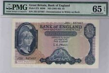 Great Britain 5 Pounds 1961 372 B280 PMG Gem Uncirculated 65 UNC Bank of England