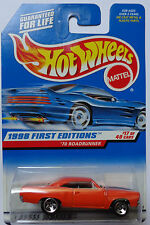 1998 Hot Wheels First Edition '70 Roadrunner 17/40 (5 Spoke Hub Wheels)