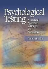 Psychological Testing: A Practical Approach to Design and Evaluation, Kline, The