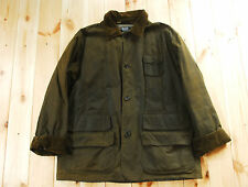 Vintage Ralph Lauren Polo Waxed Cotton Green Country Jacket Hunting Shooting L