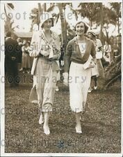 1932 Princess Ilynski Wife of Grand Duke Dmitri at Hialeah Park FL Press Photo