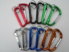 "Lot (12) 3"" Carabiner Clips ~ Spring Belt Snap Key Chain ~ Keyring Free Shipping"