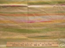 """Mill Creek Fabric Contemporary Stripes in Pastel Colors 54"""" x 30"""" Green Pink"""