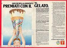 Pubblicità Advertising 1986 INDUSTRIA ITALIANA DEL GELATO Giochi della Gioventù