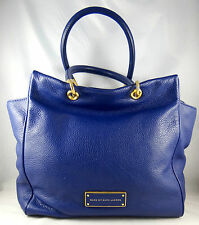MARC BY MARC JACOBS TOO HOT TO HANDLE BENTLEY VIOLET LEATHER SATCHEL BAG