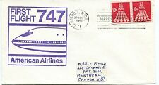 FFC 1971 First Flight 747 American Airlines Detroit Michigan Montreal Canada