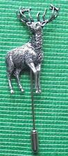 ST10 NEW Hunting Shooting Country Pewter Stick Stock Tie Pin : Red Deer Stag