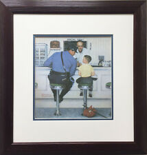"Norman Rockwell ""The Runaway"" Newly Custom Framed ART Print Americana lithograph"