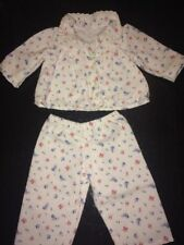 American Girl Doll Retired Clothes Emily's Floral Flannel Pajamas EUC