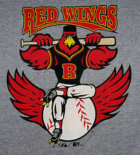 RED WINGS / BASEBALL / ROCHESTER, NY / MAJESTIC GRAY T-SHIRT SIZE L