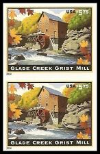 US 4927a Glade Creek Grist Mill $5.75 imperf NDC vert pair MNH 2014