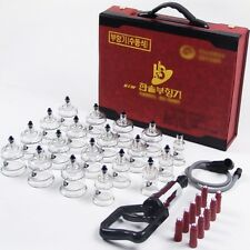 19cups+10Magnets+Pump GOOD MASSAGE THERAPY NEW HANSOL cupping set