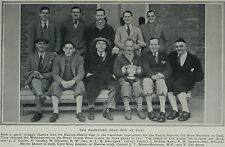 Old Harrovian Golf Win Halford-Hewitt Cup At Deal  1931 Page Photo Article 7567