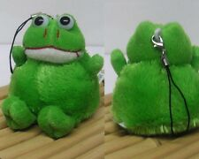 Ultra Plush Cute Green Frog Cell Phone Charm Mascot