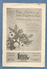 Antique Sunday School Song Booklet - A Children's Day Service - 1916 Lorenz Pub.
