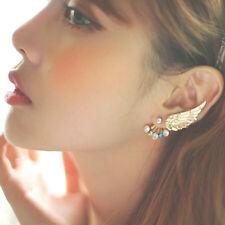 2Pcs/set Angel Wing Ear Clip Colorful Rhinestone Earrings Earring Jewelry