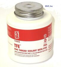 ANTI-SEIZE TEFLON PIPE THREAD SEALANT w/PTFE 1/4 PINT CAN (118 ml) BRUSH 140ER05