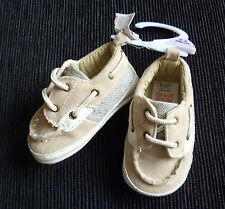 Baby clothes BOY 3-6m F&F faux-suede lace beige shoes SEE SHOP! COMBINE POSTAGE!