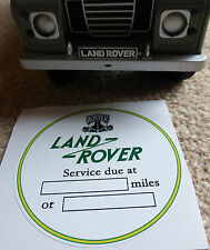 Land Rover Series 1 2 2a Service due at ... Windscreen Bulkhead Sticker Decal