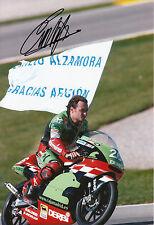 Emilio Alzamora Mano Firmado Caja Madrid Derbi 12x8 Foto 2003 125cc 1.