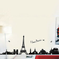 Eiffel Tower Pattern Wall Sticker Paris Tower Picture Removable Decor Exquisite