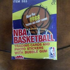 1988 FLEER BASKETBALL BOX FROM A SEALED CASE AUTH BY THE BBCE