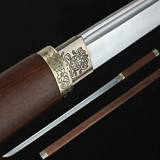 Handmade Japanese Katana Samurai Sword Carbon Steel Blade with Wood Sheath