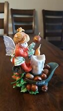 Enesco My Little Kitchen Fairies Chestnuts Fairie 2008 Christmas Candle Roasting
