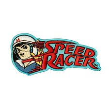 Speed Racer Logo Patch Race Car Show Retro Cartoon Embroidered Iron On Applique