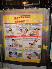 Sample Prototype SDCC 2013 Bobs Burger Choke Chart Shower Curtain