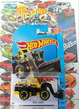 Hot Wheels 2014 #8 Wheel Loader YELLOW+BLACK,1stCOLOR,YELLOW RIM,BLACK OR6SP,INT