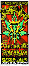 KOTTONMOUTH KINGS, Orig Concert Poster S/N Jeff Wood, PIMPADELIC, High Society