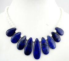 RAW lapis lazuli & Shell Necklace Handmade Natural Gemstone Jewellery  N10013