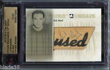 2012-13 ITG Ultimate Memorabilia UM12 Lumbergraphs  Sid Abel  1/1  Autograph