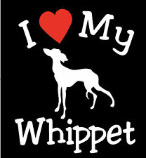 NEW I LOVE MY DOG WHIPPET PET CAR DECALS STICKERS GIFT
