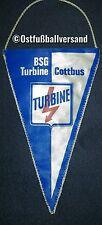 *RAR* Wimpel 23cm BSG Turbine Cottbus DFV DDR Oberliga Sport Energie Fussball