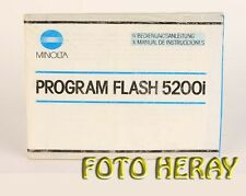 Minolta Program Flash 5200i Bed-Anleitung deutsch / Español Instrucciones 03167