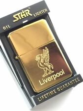 Personalised Liverpool Liver Bird Gold Star Petrol Lighter (TG19)