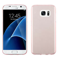 For Samsung GALAXY S7 Hybrid TPU Rubber Silicone Gel Hard Clear Case Cover Rose