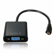 1080P Micro HDMI Male to VGA Female W/ Video Cable Converter Adapter for PC HDTV