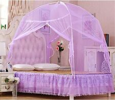 Hight QC Bed Canopy Mosquito Net Tent  For Twin Queen Small King Bed Size