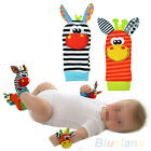 2X Soft Infant Baby Kids Foot Sock Animal Puppet Developmental Rattles Toy B52U