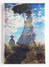 Woman with a Parasol FRIDGE MAGNET (2 x 3 inches) claude monet painting