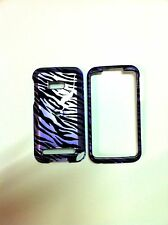 HTC IMAGIO XV6975 BLACK AND PURPLE ZEBRA GLOSSY COVER  NEW