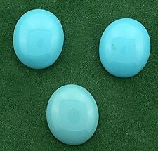 3- 12x10 Oval Synthetic Turquoise Cabochon Gem Gemstone