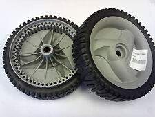 TWO NEW OEM CRAFTSMAN HUSQVARNA PUSH MOWER SELF PROPELL DRIVE WHEELS 194231X460