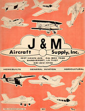 1978 J&M Aircraft Supply Co Aviation Catalog Shreveport Ray-Ban Aviator Glasses+