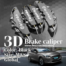 Black 3D Brake Caliper Covers Universal Brembo Style Disc Front Rear Kits AA30