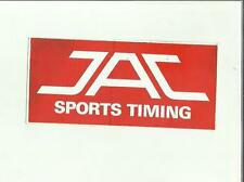 ADESIVO VINTAGE STICKER JAC SPORTS TIMING