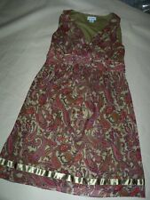 EUC Womens Medium Motherhood Lined Maternity Career Dress Paisley